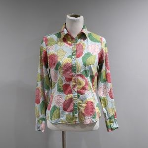 Boden Top Womens Size 6 Long Sleeve Button Front